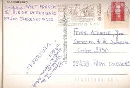 France & Marcofilia, Greetings From Saarbrücken... An Den Rest Der Welt! Sarreguemines,  Paris 1996 (7997) - France