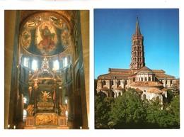 31 - TOULOUSE . LA BASILIQUE SAINT-SERNIN . 2 CARTES POSTALES - Réf. N°21478 - - Toulouse