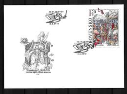 2012 Joint Slovakia And Hungary, OFFICIAL FDC SLOVAKIA: Battle Of Rhozanovce - Emissions Communes