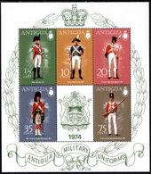 Antigua 1974 Military Uniforms (5th Series) Souvenir Sheet Unmounted Mint. - Anguilla (1968-...)