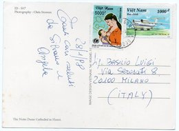 VIETNAM - THE NOTRE DAME CATHEDRAL IN HANOI / THEMATIC STAMPS-UNICEF / MOTHER SUCKLING HER CHILD / AIRCRAFT - Vietnam