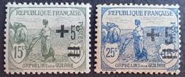 FD/2999 - 1922 - AU PROFIT DES ORPHELINS DE LA GUERRE - N°164 à 165 NEUFS* - Frankreich