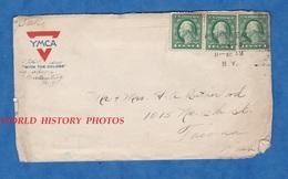 Enveloppe Ancienne D'un Soldat Américain Du 124th Aero Squadron - NEW YORK / Garden City - US Postage WW1 Aviation YMCA - Etats-Unis