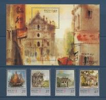 Macao Macau 1997 Yvert 848/851 ** + Bloc 42 ** Macao Vue Par Le Peintre Kwok - Macao Seen By Kwok . Superb - Blocs-feuillets