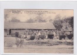 CONGO BELGE. HUILERIE AU BORD DU FLEUVE DANS L'ILE DE MALEBA. CIRCULEE A BELGIQUE AN 1913 - BLEUP - Entiers Postaux