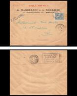 5604 Lettre Entete Columb'oil Cover Bouches Du Rhone N°130 Semeuse Marseille Flier Secap Poste Aérienne 1923 - Postmark Collection (Covers)