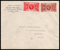 5722 Lettre Cover Bouches Du Rhone Silver Jubilee Grande Bretagne Great Britain Pour Marseille Arrivée 1935 - 1902-1951 (Kings)