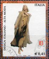 REPUBBLICA 2002 - DESIGN ITALIANO, ALTA MODA, LAURA BIAGIOTTI - 1 VALORE USATO - 6. 1946-.. Repubblica