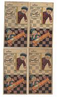 Farine Salvy Lot De 4 Cartes Avec 2 Garçons - Publicité