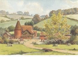 Eric Scott A Kentish Faryard At Shoreham Greetings Card Unused Good Condition - Paintings