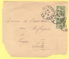 FRANCIA - France - 1941 - 2 X 75c Surchargé 50c Paix - Big Fragment - Viaggiata Da Bar-sur-Aube Per Troyes - Storia Postale