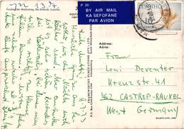 Lesotho - Fording The Makhaleng - Cow Vache - Used Postcard And Stamp Timbre - Lesotho