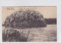 CONGO BELGE. LE LUABA, ROCHER FORMANT LES PORTES D'ENFER. CIRCULEE A BELGIQUE AN 1914 - BLEUP - Entiers Postaux