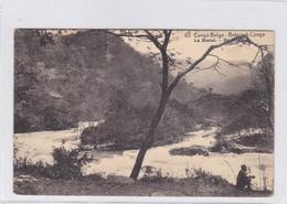 CONGO BELGE. LA RUZIZI. CIRCULEE A BELGIQUE AN 1914 - BLEUP - Entiers Postaux