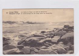 CONGO BELGE. LES RAPIDES DU CONGO A SA SORTIE DU STANLEY POOL. CIRCULEE A BELGIQUE AN 1914 - BLEUP - Entiers Postaux