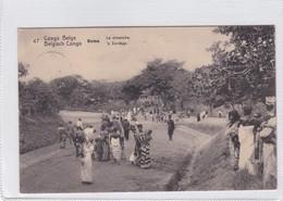CONGO BELGE. BOMA. LE DIMACHE. CIRCULEE A BELGIQUE AN 1913 - BLEUP - Entiers Postaux