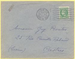 FRANCIA - France - 1947 - 2F Cérès - Imprimés - Viaggiata Da Paris Per Castres - Covers & Documents