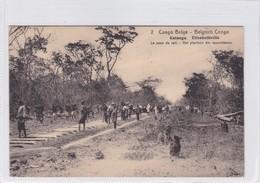 CONGO BELGE.  KATANGA. ELISABETHVILLE. LA POSE DU RAIL. CIRCULEE A BELGIQUE AN 1913 - BLEUP - Entiers Postaux