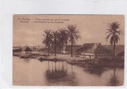 CONGO BELGE. NYONGA. POSTE COMMERCIAL SUR LE LUALABA. CIRCULEE A BELGIQUE AN 1912 - BLEUP - Entiers Postaux