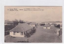 CONGO BELGE. BASOKO, VUE D'ENSAMBLE DE LASTATION DEL'ETAT. CIRCULEE A BELGIQUE AN 1913 - BLEUP - Entiers Postaux