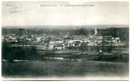 16140 AIGRE - Vue Générale Prise Des Côteaux D'Aizet - Postée En 1908 - Autres Communes