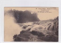 CONGO BELGE. STANLEYVILLE. LES CHUTES DE LA TSCHOPO. CIRCULEE A BELGIQUE AN 1913 - BLEUP - Entiers Postaux