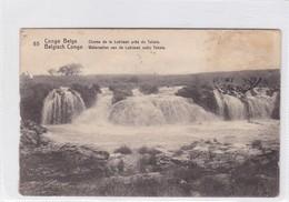 CONGO BELGE. CHUTES DE LA LUBILASH PRES DE TSHALA. CIRCULEE A BELGIQUE AN 1916 - BLEUP - Entiers Postaux