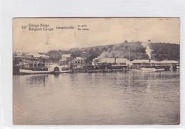 CONGO BELGE. LEOPOLDVILLE. LE PORT. CIRCULEE A BELGIQUE AN 1921 - BLEUP - Entiers Postaux