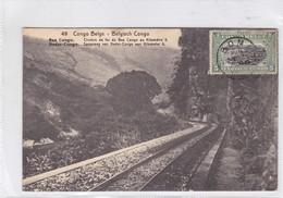 CONGO BELGE. CHEMIN DE FER DU BAS CONGO AU KILOMETRE 5. CIRCULEE A BELGIQUE AN 1920 - BLEUP - Entiers Postaux