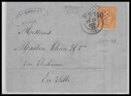 LAC Lettre-0244 Bouches Du Rhone Marseille Napoléon N°28 T1 TB GC 2240 21/10/1869 Pour Marseille - 1849-1876: Classic Period