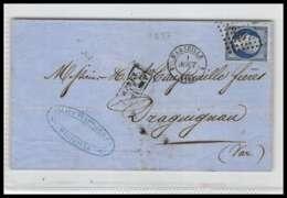 LSC Lettre-0022 Bouches Du Rhone Marseille Napoléon N° 14 A T1 Pc 1896 Draguignan SANS MILLESIME 1857 4ème Arrondissemet - 1849-1876: Classic Period