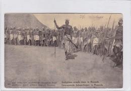 CONGO INDIGENES ARMES DANS RUANDA. WATERLOW & SONS. CIRCULEE A FRANCE AN 1918 - BLEUP - Entiers Postaux