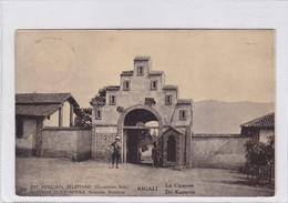 EST AFRICAIN ALLEMAND. KIGALI. LA CASERNE. WATERLOW & SONS. OBLITERE 1918 - BLEUP - Entiers Postaux