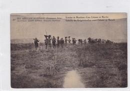 EST AFRICAIN ALLEMAND. ECHELON DE MUNITIONS D'UNE COLONNE EN MARCHE. WATERLOW & SONS. OBLITERE 1918 - BLEUP - Entiers Postaux