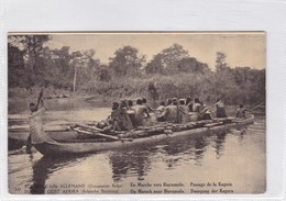 EST AFRICAIN ALLEMAND. EN MARCHE VERS BIARUMULO,PASSAGE DE A KAGERA. WATERLOW & SONS. OBLITERE 1918 - BLEUP - Entiers Postaux