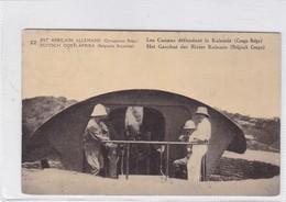 EST AFRICAIN ALLEMAND. LES CANONS DEFENDANT LA KALEMIE. WATERLOW & SONS. OBLITERE 1918 - BLEUP - Entiers Postaux