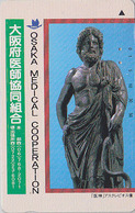 TC Japon / 110-011 - GRECE - SCULPTURE RELIGION MEDECINE - ASCLEPIOS & SERPENT SLANG - GREECE Rel Japan Phonecard 101 - Culture