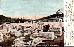 Vermont West Rutland Marble Yard 1907 - Rutland