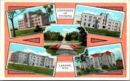 Wyoming Laramie Multi View University Of Wyoming Curteich - Laramie