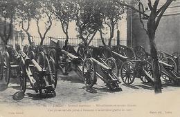 83) TOULON Arsenal Maritime - Mitrailleuses Et Canons Chinois. Ces Pièces Ont été Prise à L'ennemi à La Dernière De 1901 - Toulon