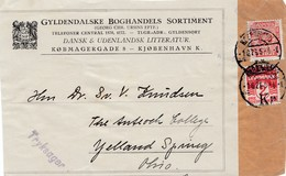 Dänemark: 1926: Paketausschnitt Von Kopenhagen Nach USA - Dänemark