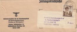 GG Zeitungsstreifband, Verordnungsblatt An Forstschutzkommando 5. Hundertschaft - Occupation 1938-45