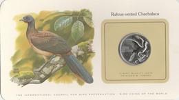 BIRD COINS OF THE WORLD - TRINIDAD ET TOAGO - ONE DOLLAR - 1980 - RUFOUS - VENTED CHACHALACA          -  TDA20A - Trinidad & Tobago