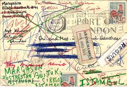 1967- Enveloppe De Paris-96 Pour Istanbul ( Turquie ) étiquette Bilingue - Super Poisson Au Dos - - Marcofilia (sobres)