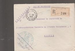 LETTRE FM REC BPM 418 - COMMANDANT SP 51256 - POUR DIRECTEUR L A.C.A.T - TUNIS - Postmark Collection (Covers)