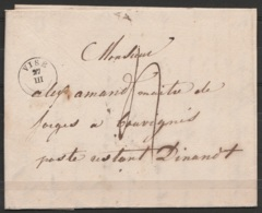 L. Datée 1838 De VISE Pour Maître De Forges à BOUVIGNES + T18 VISE  + Port 4 (au Dos: Càd DINANT/1838) - 1830-1849 (Belgique Indépendante)