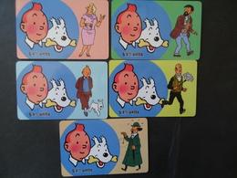 CHINA USED CARDS SET 5 DISNEY COMICS TINTIN MILOU PRINTED COPIES 250 - Disney