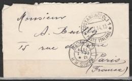Colonies Italiennes - 1914 L  De Carte De Viste Affr 1 Piastra /25c Bleu Càd COSTANTINOPOLI/21.1.14 Pour Paris - Italy