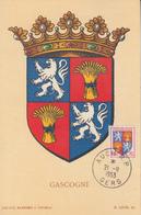 Carte Maximum   FRANCE   Armoiries  De  La   GASCOGNE    AUCH   1953 - Maximum Cards