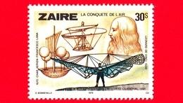 Nuovo - MNH - ZAIRE - 1978 - Conquista Dell'aria - Leonardo Da Vinci - Otto Lilienthal - Char Aerien-Francesco Lana - 30 - Zaire